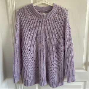 American Eagle Knitted Purple Crewneck Sweater